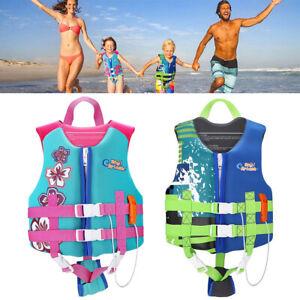 Kid Child Watersports Swim Vest Life Jacket Boys Girls Training Aid Flotation US