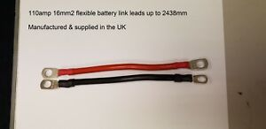 VAN CAR BATTERY BLACK EARTH EARTHING NEGATIVE POSATIVE RED LEAD CABLE WIRE STRAP
