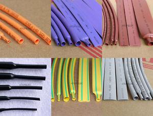 1M/5M Orange/Purple/Brown/Gray Heat Shrink Tubing 2:1 Polyolefin 1-40mm ROHS UL