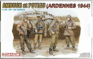 Dragon WWII German Soldiers, Ardennes 1944 Ambush at Poteau Figures 1/35 6091