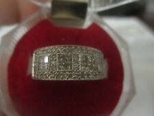 And Princess Cut Diamonds; 1.50 Tcw; 14K White Gold Eternity Ring Round
