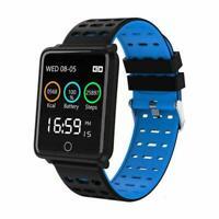 Bluetooth F3 Smart Watch Heart Rate Oxygen Blood Pressure Sports Fitness Tr U2Z0