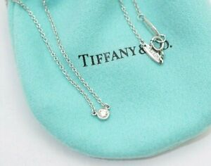 "Tiffany & Co. PT950 Platinum Elsa Peretti Diamond By The Yard Necklace 16"""