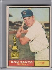 1961 TOPPS #35 RON SANTO ROOKIE RC CHICAGO CUBS HOF 8136
