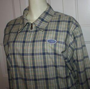 Liz Golf Claiborne Jacket Women size Large L Plaid Pockets Cinch Waist Zip
