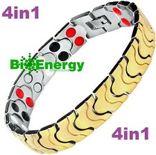 TITANIUM Magnetic Energy Germanium Armband  Power Bracelet Health  4in1 Bio