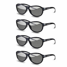 4pcs AG-F310 3D Glasses Polarized Passive Glasses For LG TCL Samsung SONY Konka