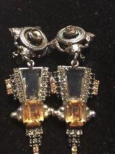 Sorrelli Art Deco Dangle Clipp On Earrings