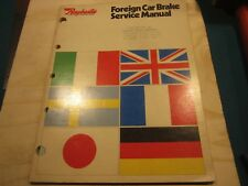 1979 Raybestos foreign car brake service manual
