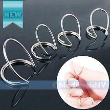New! 4 Set Guitar Finger Picks Finger style Plectrum Thumb Picks Silver