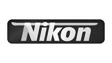 "Nikon 2""x0.5"" Chrome Domed Case Badge / Sticker Logo"