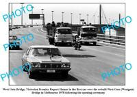 OLD 6 x 4 PHOTO HOLDEN STATESMAN 1st CAR OVER THE WESTGATE BRIDGE c1978