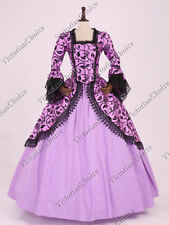 Renaissance Princess Lavender Brocade Fairytale Dress Halloween Gown 143 XXXL