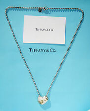 Tiffany & Co Sterling Silver 18Ct 18K Gold Heart & Arrow Necklace