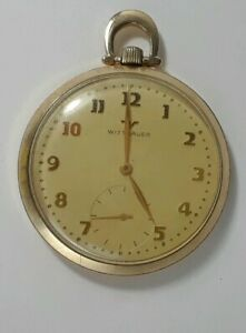 Vintage Wittnauer 17Jewel, 10K Goldfilled Pocketwatch 12 SIZE CASE 43 MM