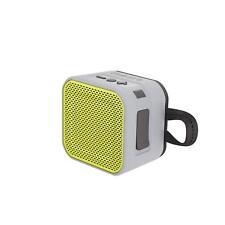 Skullcandy Barricade Mini Bluetooth Wireless Portable Speaker - Grey/Hot Lime