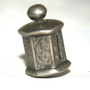 Small Antique Sterling Silver Tape Measure