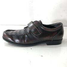 Cole Haan Air Pinch Strap Burgundy Leather Loafer Youth Boys Dress Shoes SIZE 4