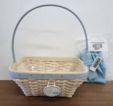 Longaberger 2003 Small Easter Basket Whitewashed Combo with Liner & Tie-On New!
