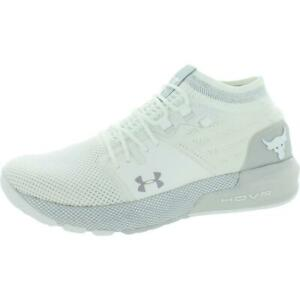 Under Armour Womens Project Rock 2 White Sneakers Shoes 8 Medium (B,M) BHFO 7773