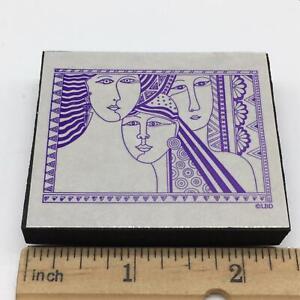 Laurel Burch INSPIRE WOMEN FRAME foam mounted Rubber Stamp
