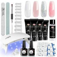 15Pcs/set Meet Across 20ml Poly Extension UV Gel Nail Kit Slip Solution Brush US