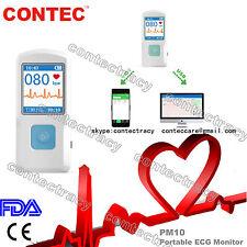 Portable ECG EKG Machine with USB,Heart Beat Monitor,Bluetooth,LCD color screen