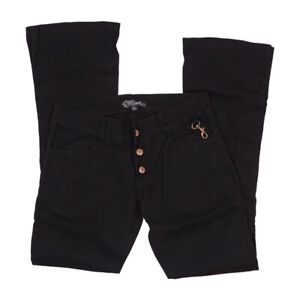 LIP SERVICE MENS FLARE PANTS WITH SIDE LEGS TACK BUTTON DETAILS