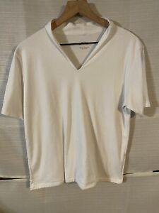 "Women's Orvis ""Perfect Tee"" Women's Size Large Short Sleeved White V-neck Tee"