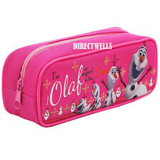 Disney Authentic Licenced Frozen Olaf Character Pink Pencil Case