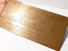 19thC David Smith Wool Merchants Halifax. Hughes Kimber Copper Printing Plate