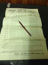 Old Staffordshire Documents 1914, Leek Builders Yard Mill St. Rider, Platt, Etc.