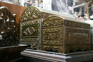 Chest Of Treasure, Trunk, Box Vintage in Asian Thailand Northern Chest Wood.