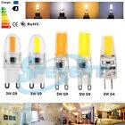 Dimmable G4 G9 LED Lámpara Bombilla 3W/5W COB SMD Chandelier Lamp Bulb 12V 220V