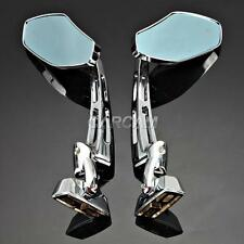 Chrome RACING Rear Mirrors For Honda CBR1100XX CBR 1100 Super Blackbird