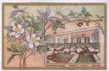 1909 Denver Co Colo The Shirley Hotel Restaurant Interior Old Postcard Pc4563
