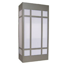 Brushed Nickel Contemporary Exterior Wall Light