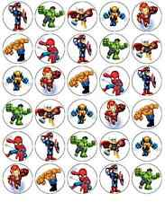 Marvel Superhero Squad Cupcake Toppers Edible Wafer Paper BUY 2 GET 3RD FREE!