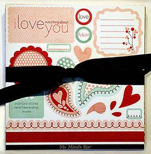 (40) My Mind's Eye (Valentine)12 x12 Scrapbook Paper & Die Cut Sheets Save 85%!