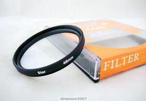 46 46MM 8 Point 8PT Star Cross Light Filter For DSLR SLR Camera Camcorder Lens