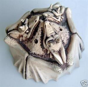DRAGON JOSS STICK INCENSE BURNER ornament METALIC LOOK