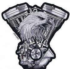 Patch Aigle Vtwin eagle écusson thermocollant biker blouson gilet moto custom GF