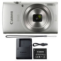 Canon Ixus 185 / Elph 180 20MP Digital Camera 8x Optical Zoom Silver