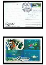 2000 $1.00 International on postcard to the UK with pictorial postmark TPC38