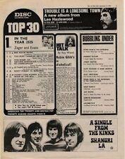 Kinks Shangri La UK '45 advert 1969