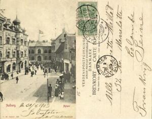 denmark, AALBORG ÅLBORG, Nytorv (1903) Postcard