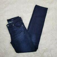 AG Adriano Goldschmied Jeans Sz 26 Dark Wash Prima Mid Rise Cigarette Leg Skinny