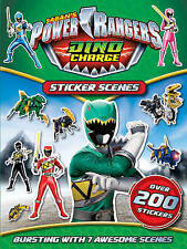 NEW POWER RANGERS  STICKER SCENES activity over 200 STICKERS book DINO CHARGE
