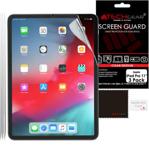 """3 Pack TECHGEAR Screen Protector Guard Cover for iPad Pro 11"""" 2021 / 2020, Air 4"""