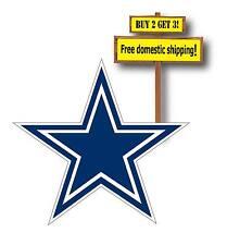 Dallas Cowboys Decal/Sticker Vinyl Printed NFL Star Blue & Silver Die Cut NEW D1